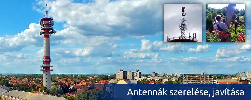 Antennák szerelése, javítása